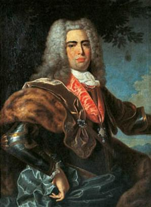 Portrait of John V of Portugal by Carlos Antonio Leoni