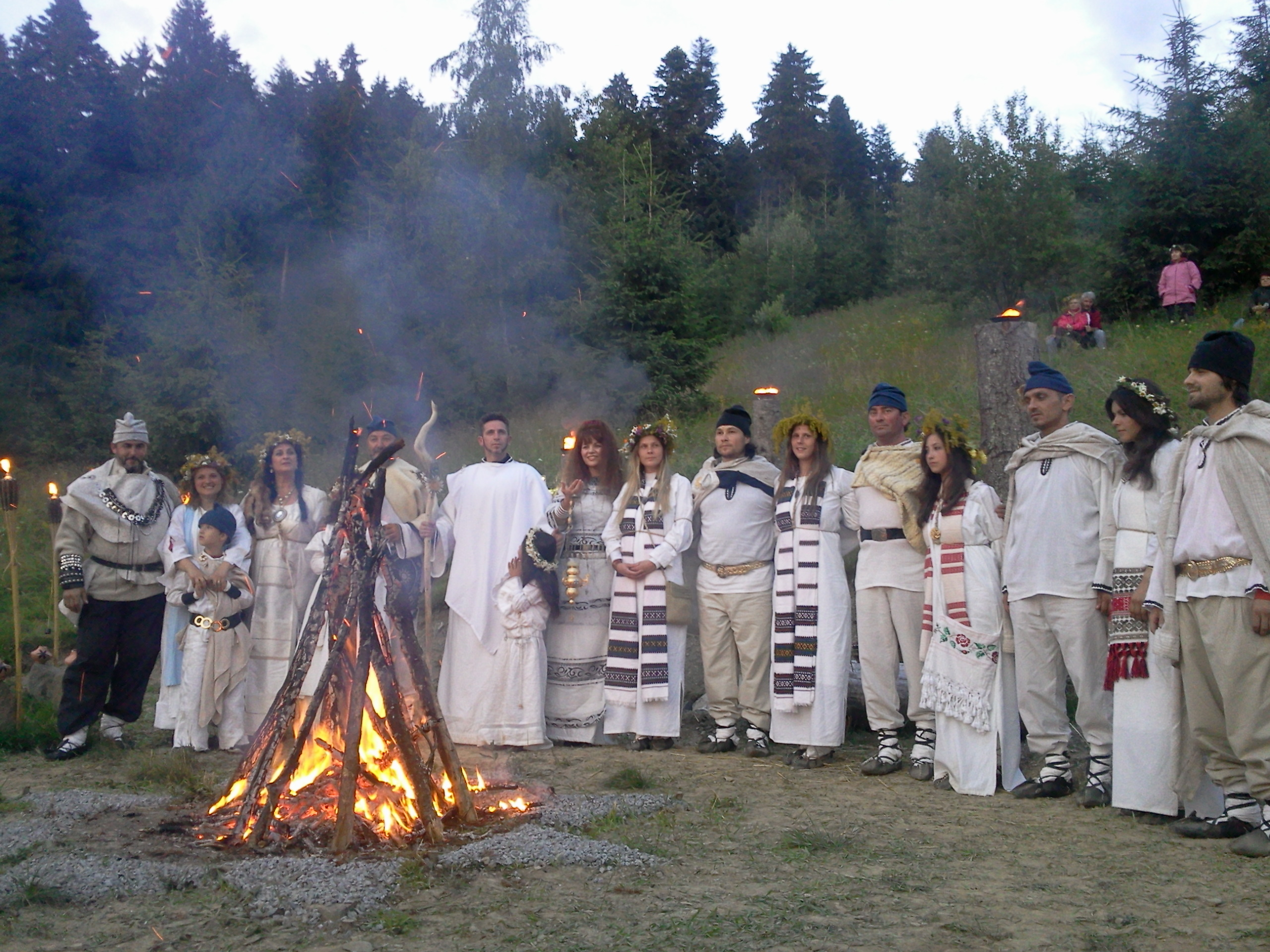 A modern ceremony of Dacian Sacred Fire in Romania