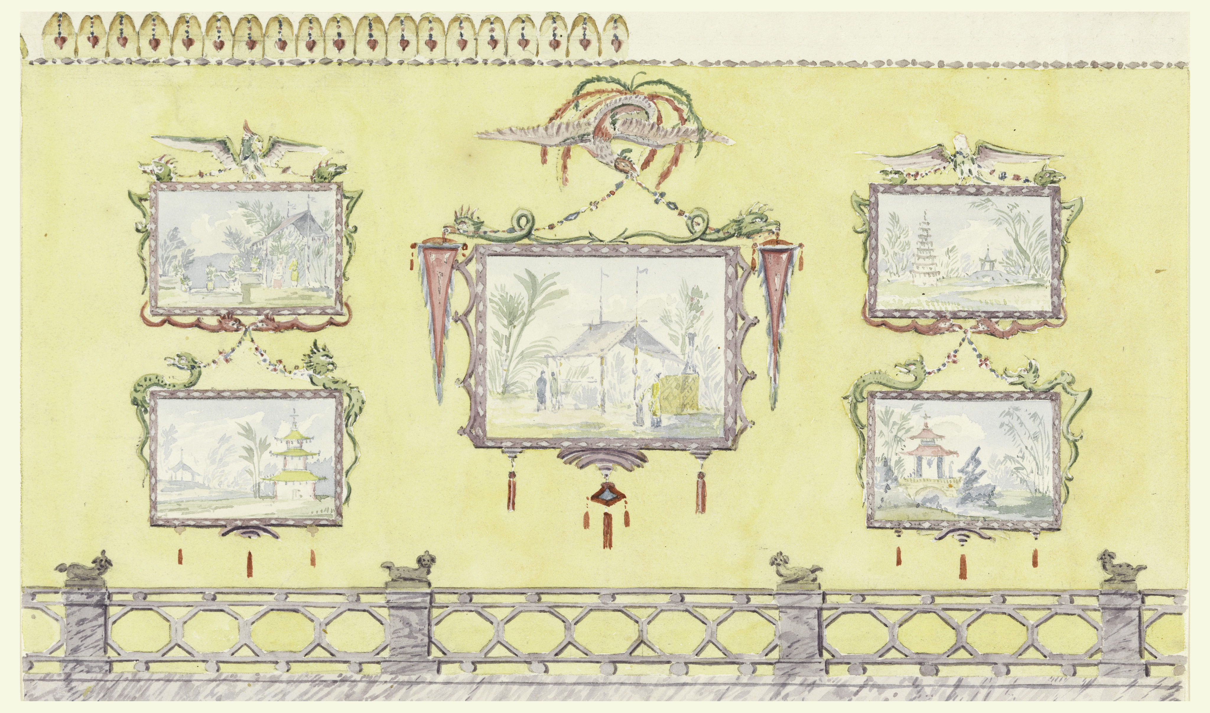 File:Drawing, Design for Wall Decoration, Yellow (North) Drawing ...