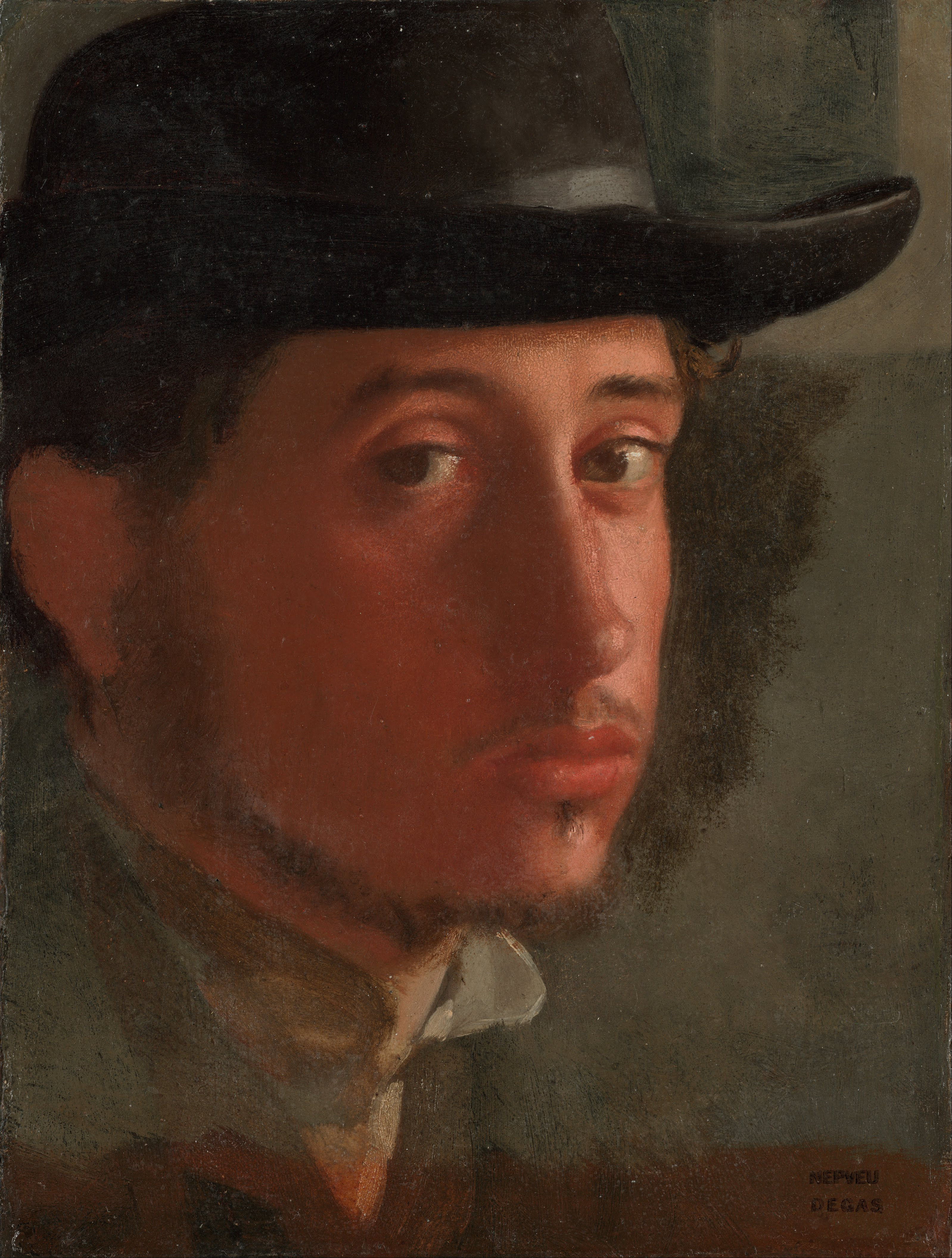 File:Edgar Degas - Self-Portrait - Google Art Project.jpg ...