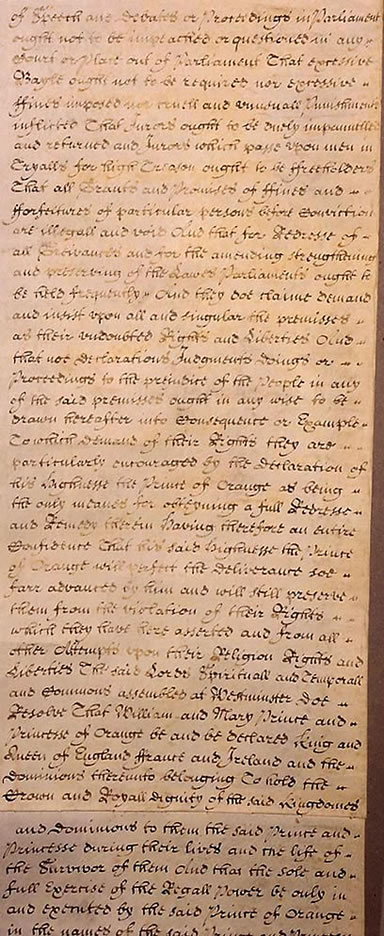 the bill of rights of 1689 Bill of rights 1689 has been listed as a level-5 vital article in society if you can improve it, please do this article has been rated as c-class.