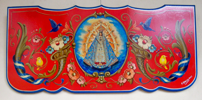 Rikcha:Fileteado Virgen de Luján Edgardo Morales.jpg