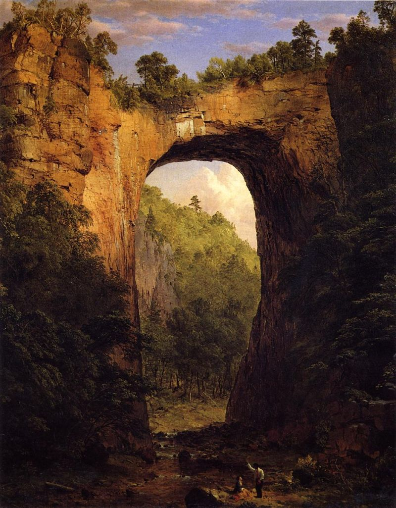 File frederic edwin church the natural bridge virginia for Frederick church paintings