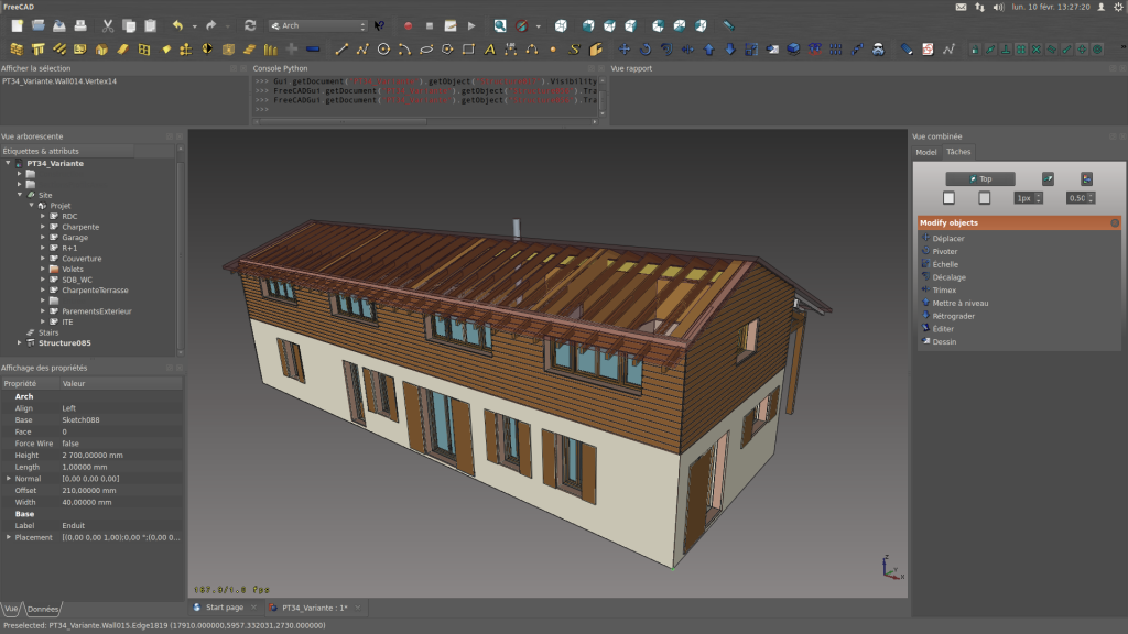 File freecad screenshot rockn house out png 3d object design software