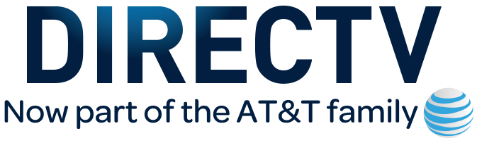 DirecTV transitional logo following purchase by AT&T.