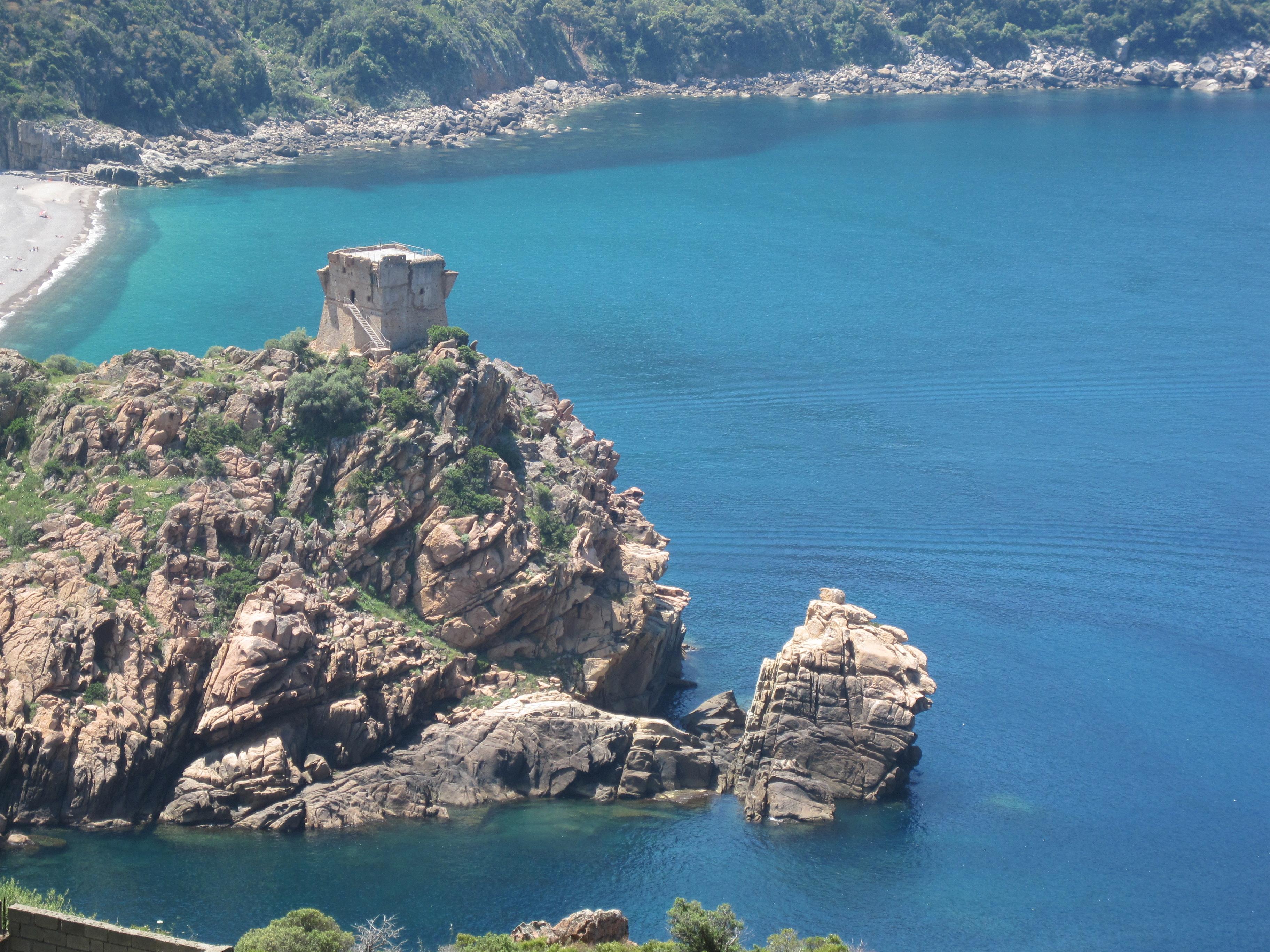 File Genoese Tower Porto Corsica France Jpg Wikimedia
