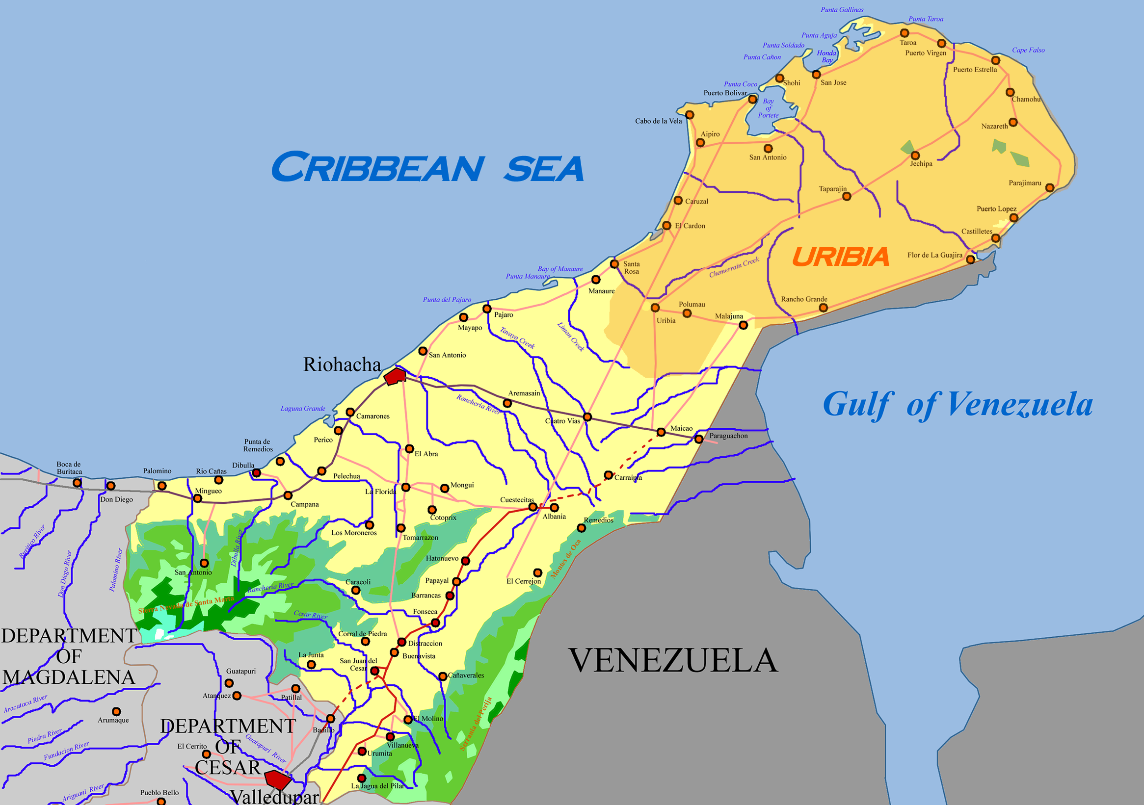 Brazil Physical Features Map besides Haiti Location On A Map Of ...
