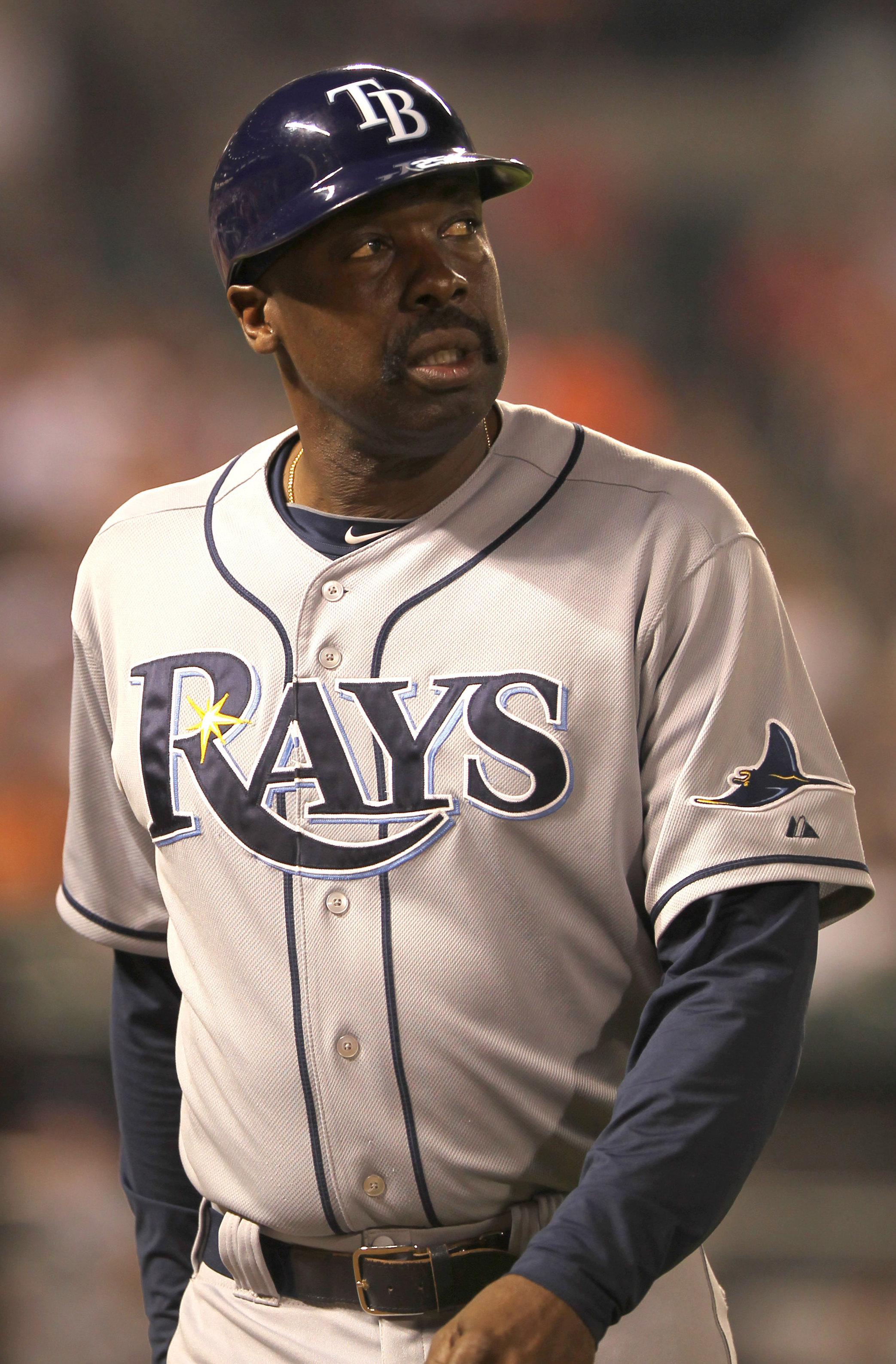 Hendrick as a coach for the Tampa Bay Rays