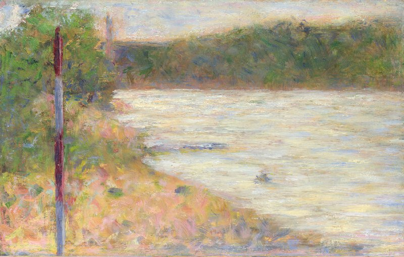 Georges Seurat - A river bank PC 78.jpg