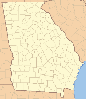Map Of North Georgia Counties.List Of Counties In Georgia Wikipedia