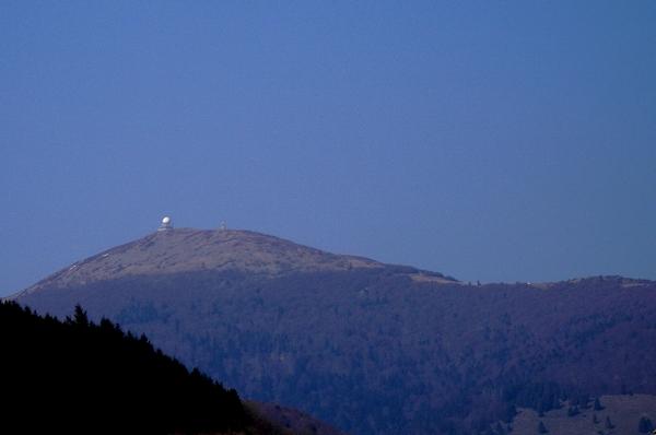 La face sud du Grand Ballon depuis la vallée de la Thur