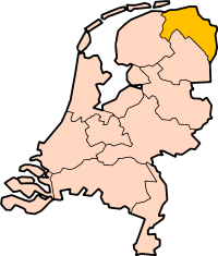 Location of Groningen