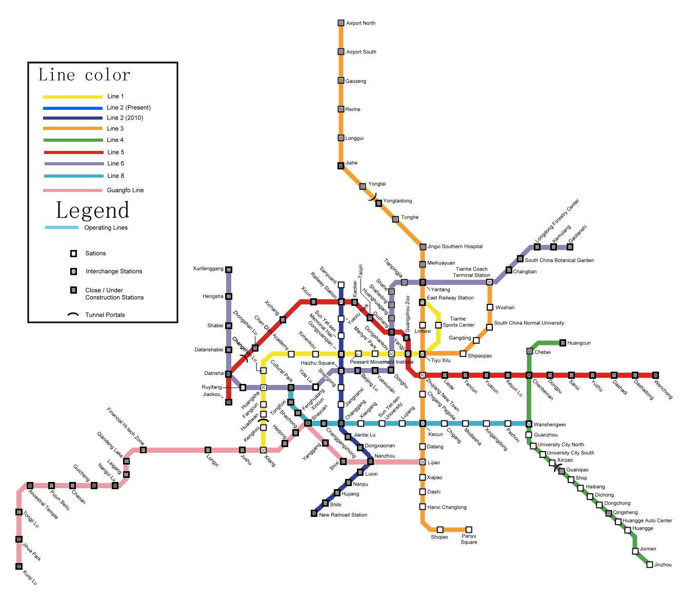 guangzhou metro map pdf 2017