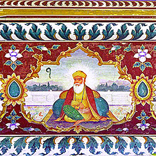 Fresco of Guru Nanak at Goindwal Sahib Gurdwara GuruNanakFresco-Goindwal.jpg
