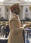 Haile Selassie, Emperor of Ethiopia, during a ...