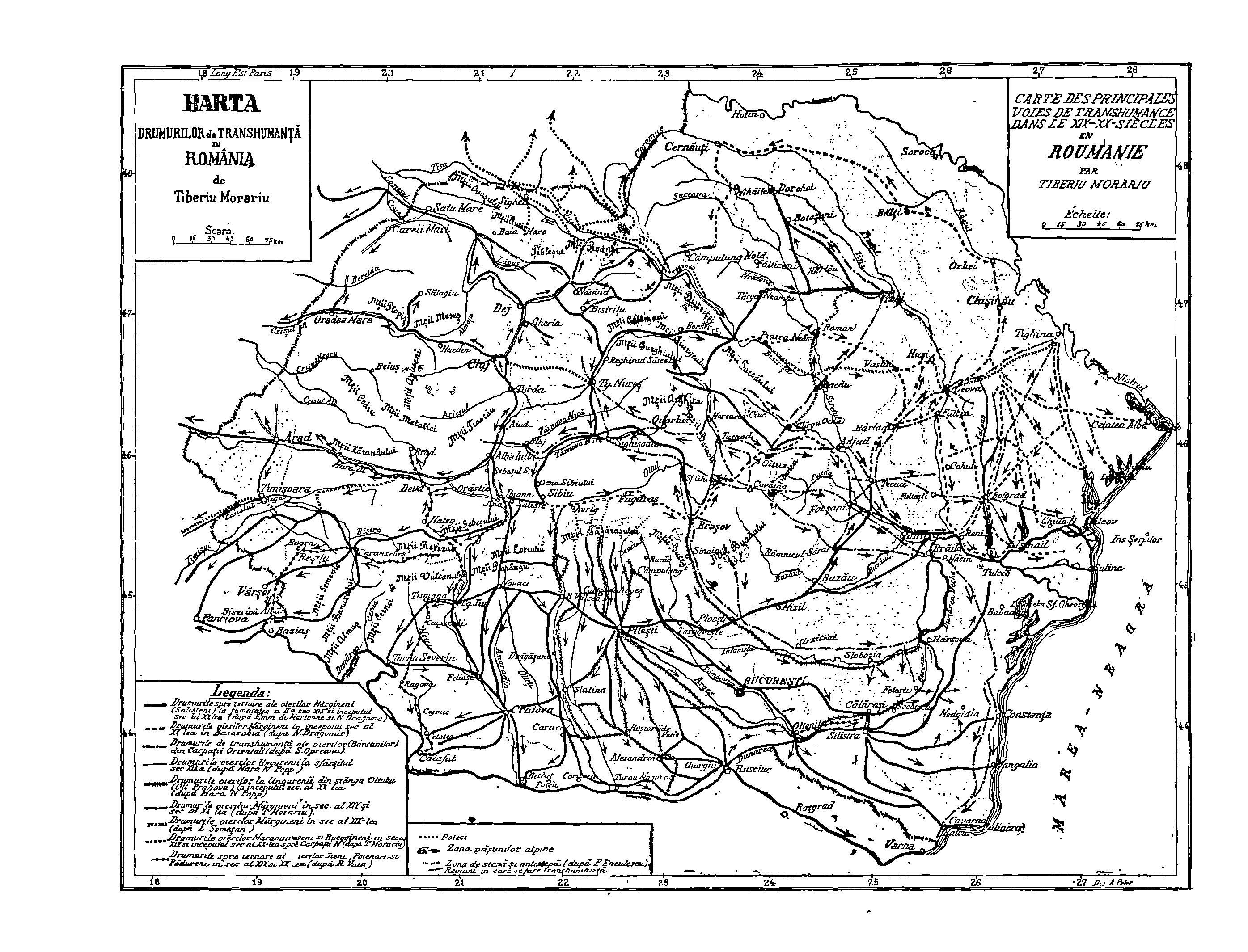File Harta Drumurilor De Transhumanță In Romania Jpg Wikimedia