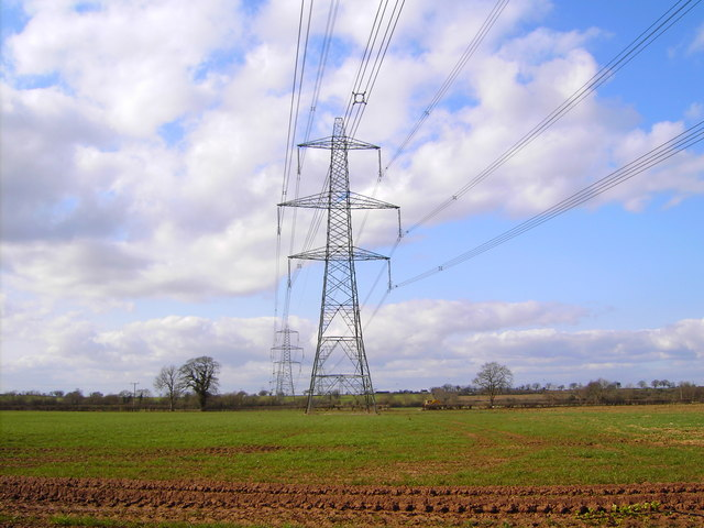 How Much Is A Transmission >> File:High voltage power lines, near Iron Acton, Bristol - geograph.org.uk - 364683.jpg ...