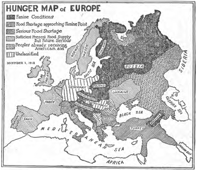 Datei:Hunger Map of Europe- The New York Times Current History-May ...