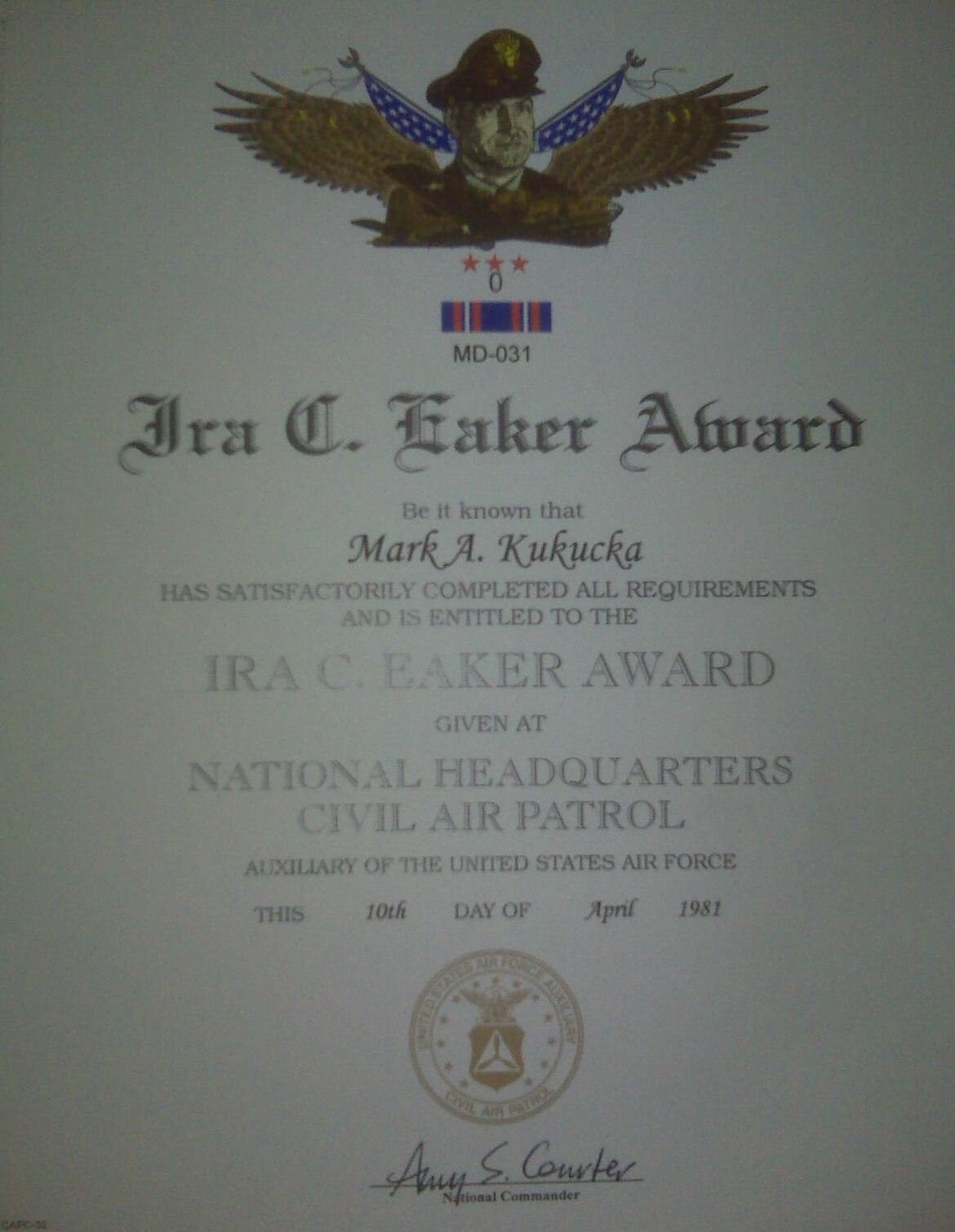 Fileira Eaker Awardg Wikimedia Commons