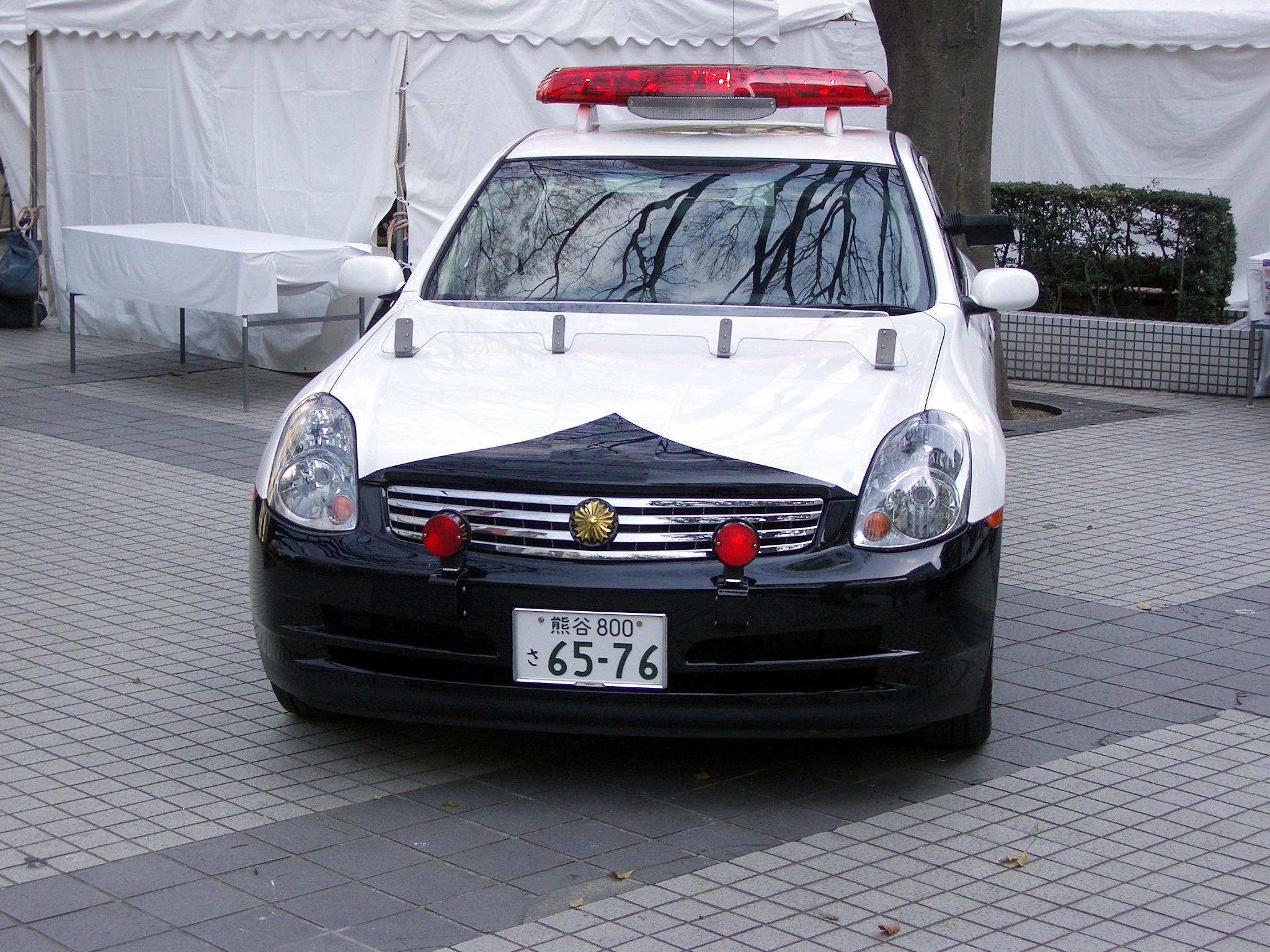 File Japanese Nissan Skylinev35 3 50gt Police Car Jpg Wikimedia
