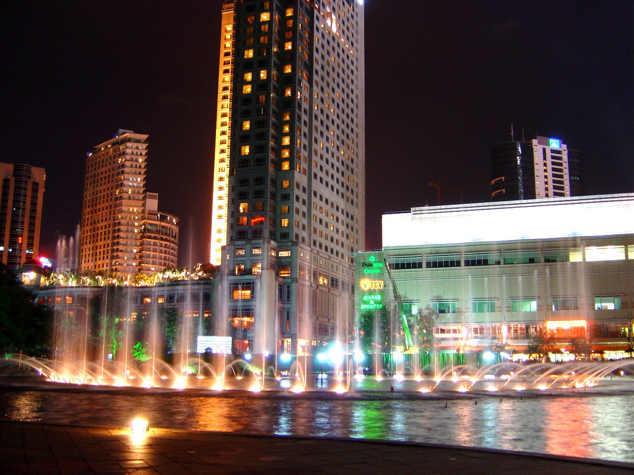Kuala Lumpur City Centre Park at night