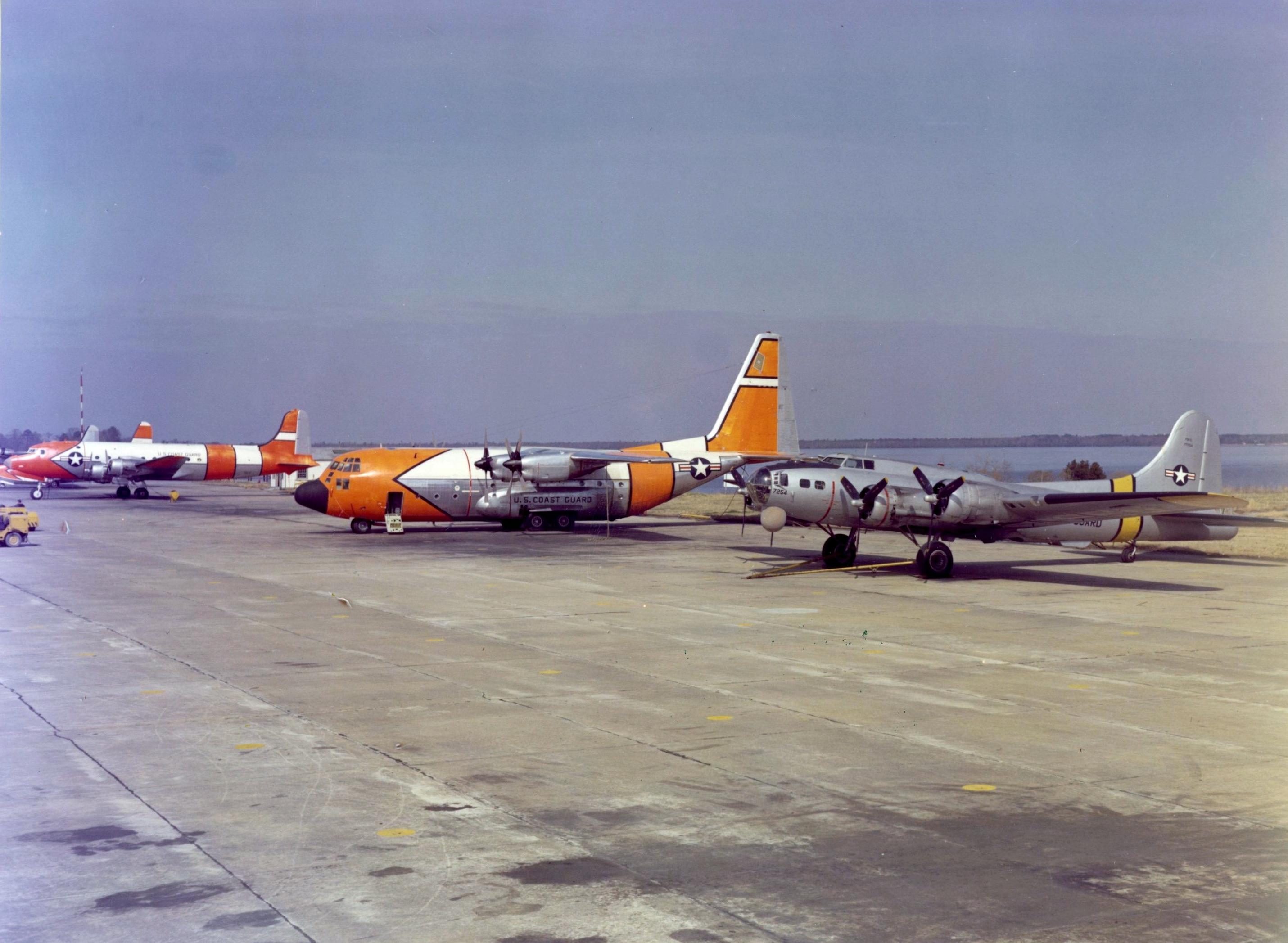File:Last USCG PB-1G and first HC-130B at CGAS Elizabeth City 1959elizabeth city city