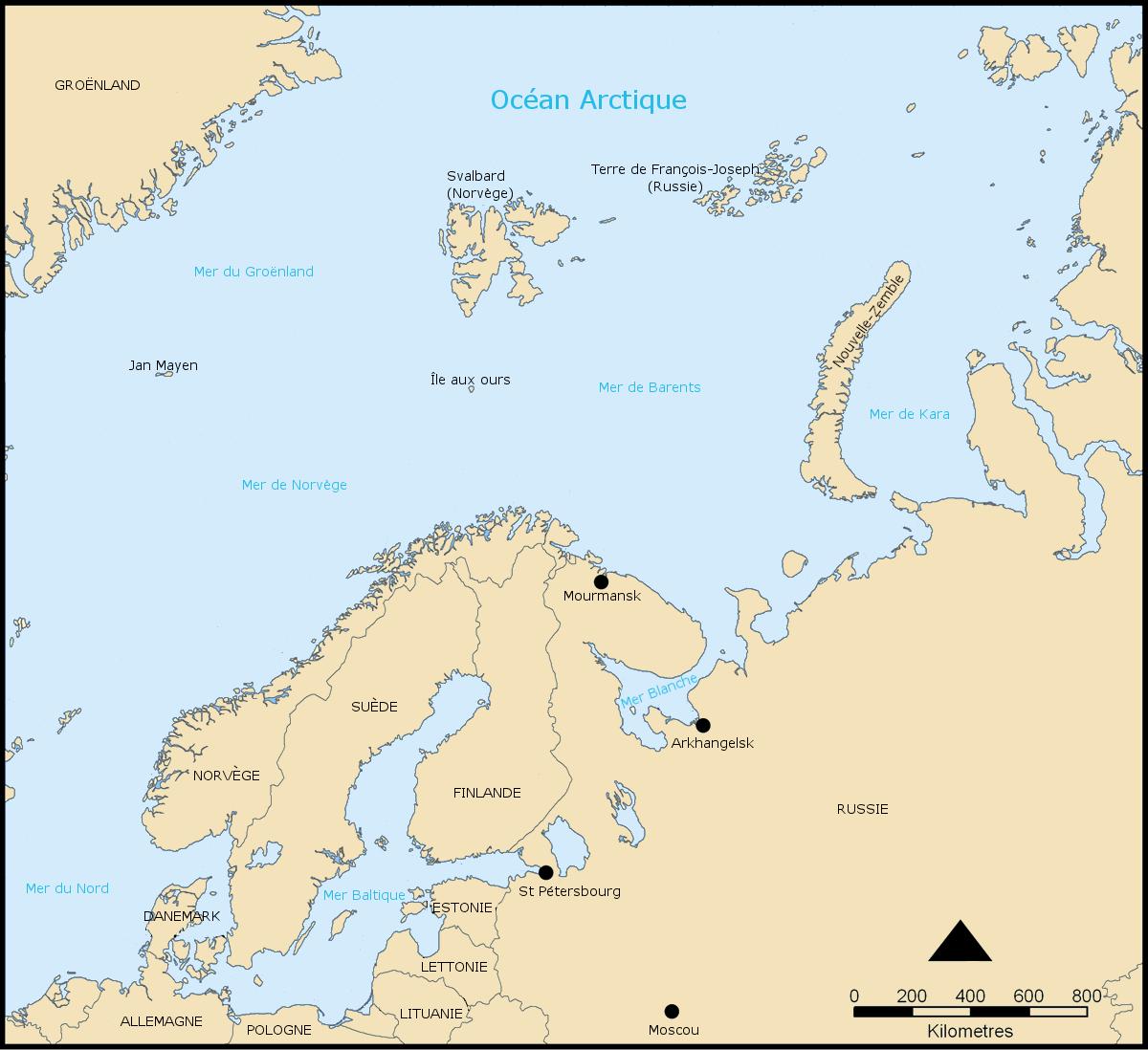 Nord Russie Carte Ville