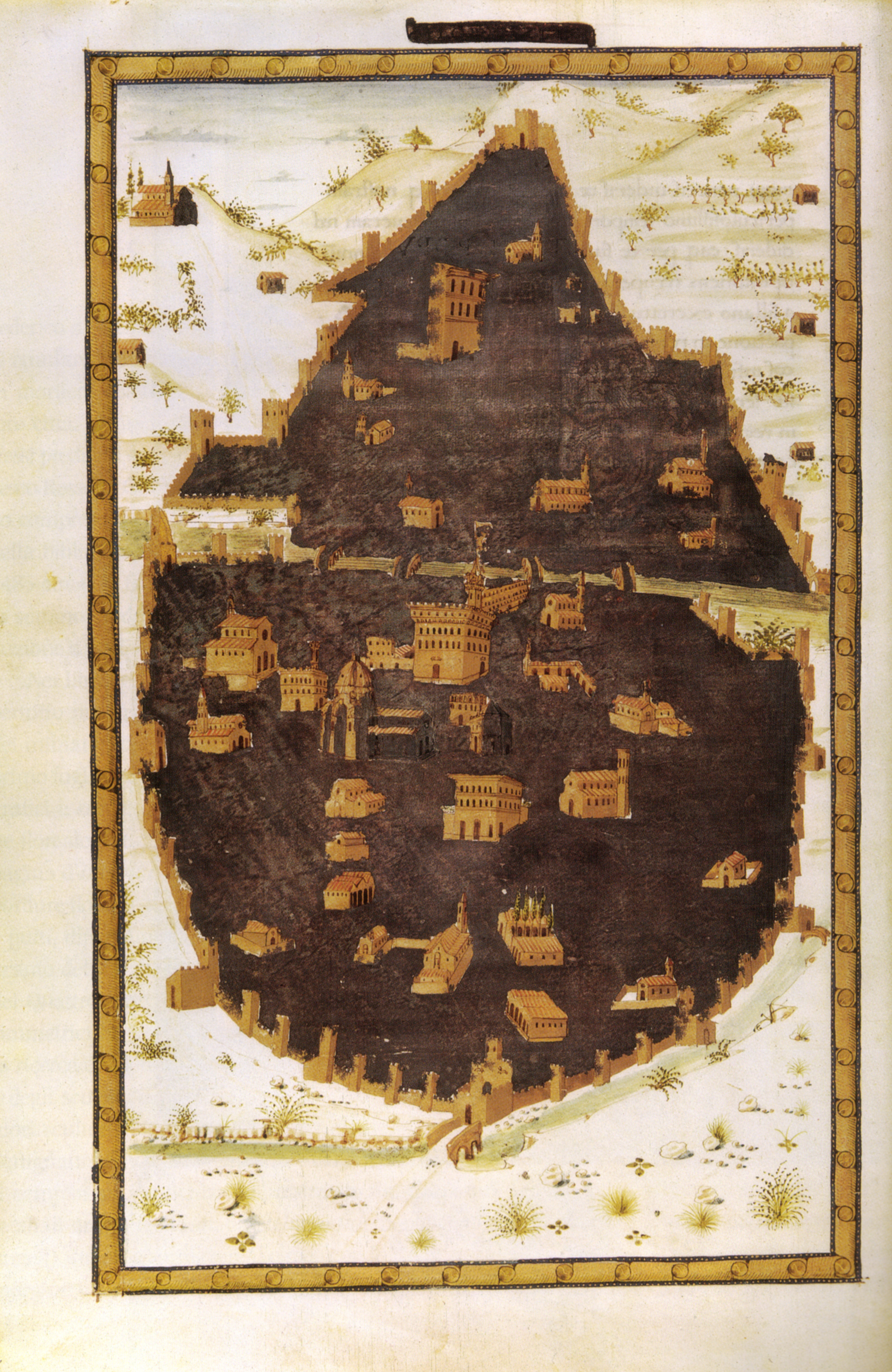 File miniatore fiorentino pianta di firenze da poggio for Firenze medievale