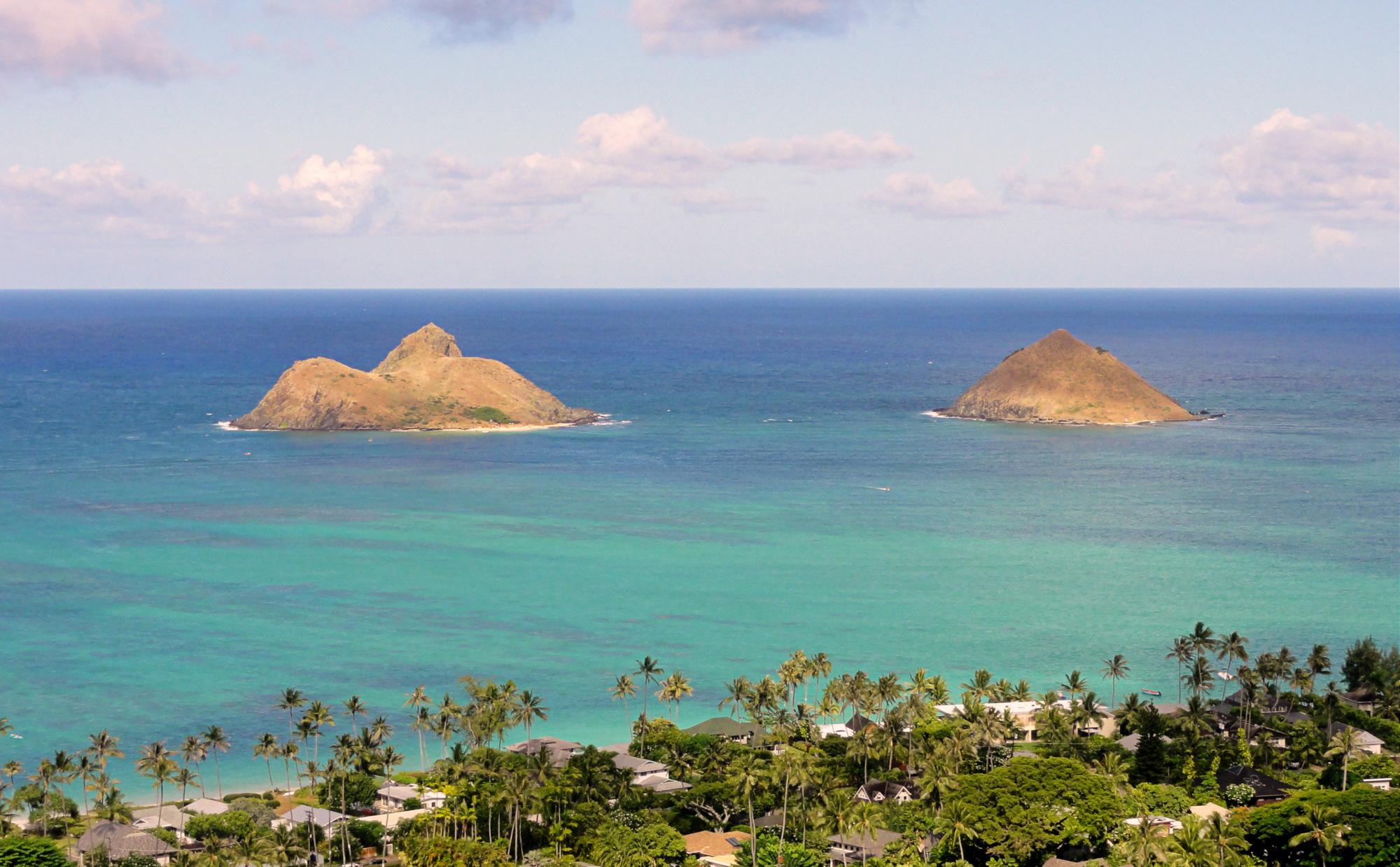 Na Mokulua Hawai: File:Mokulua Islands, Oahu Hawaii.JPG