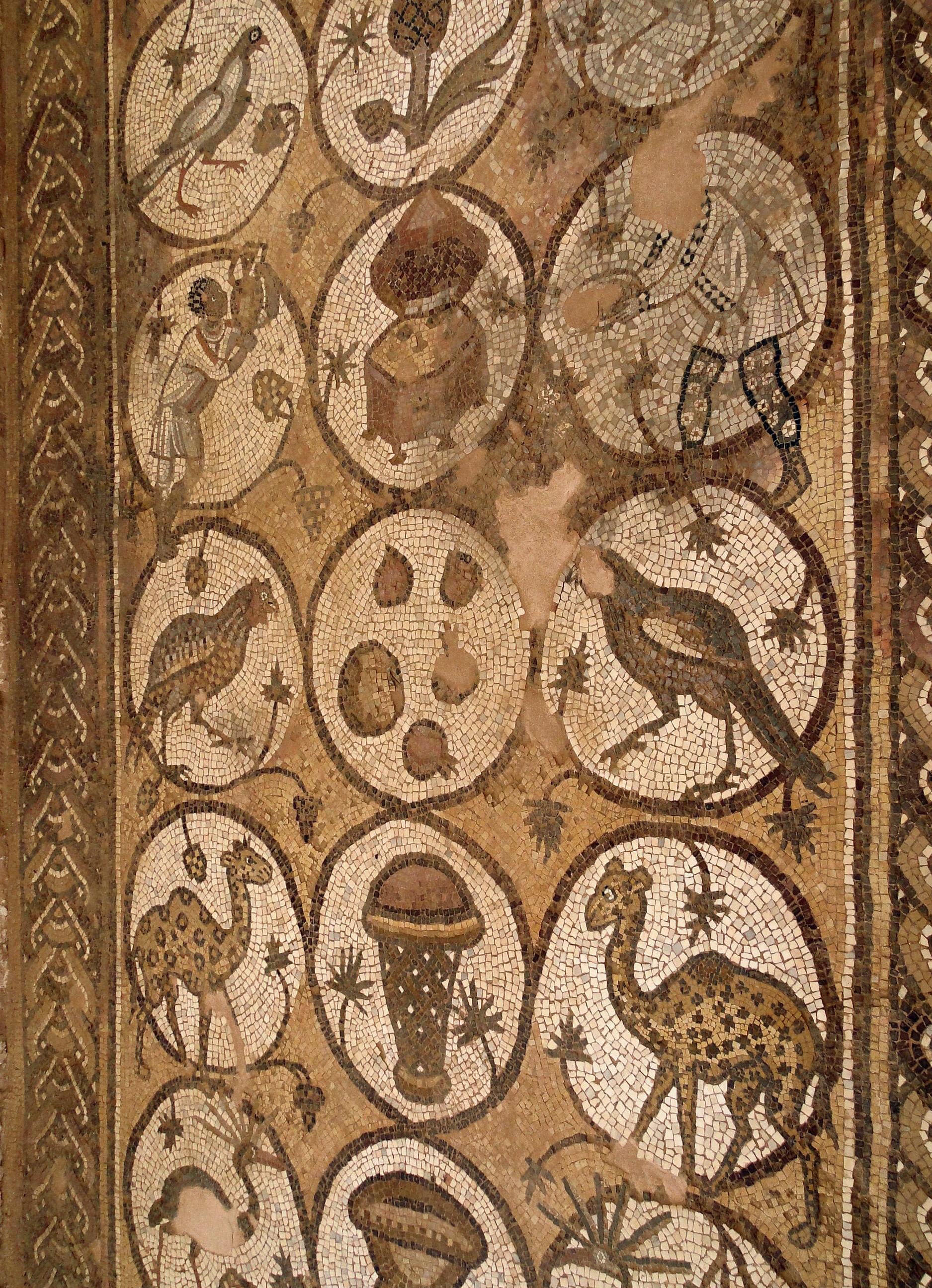 File Mosaic Of Byzantine Church Of Petra 01 Jpg