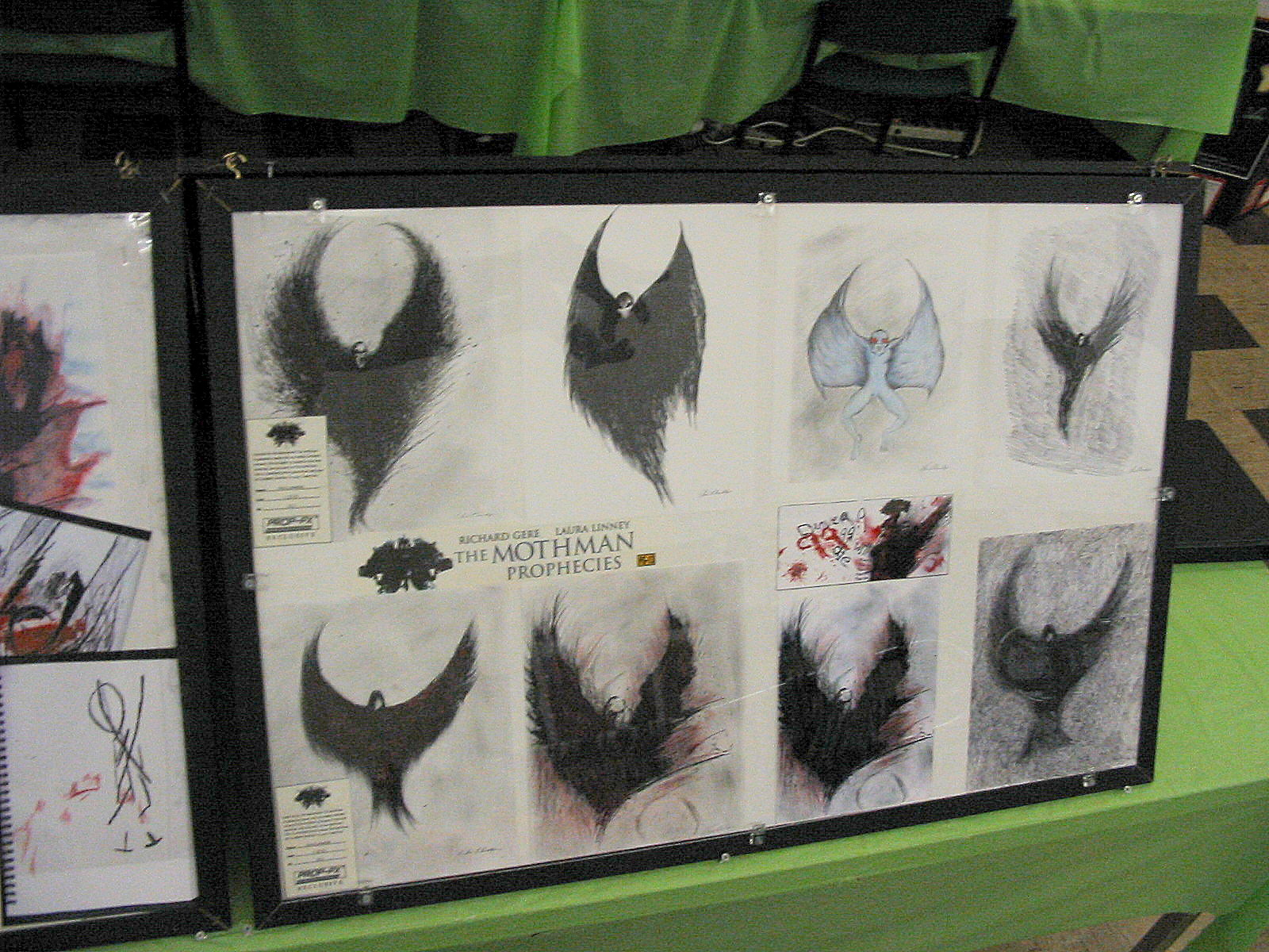 An image of Mothman inspired art.