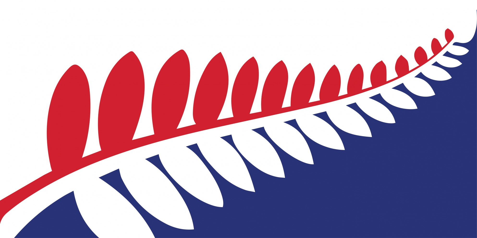 filenz flag design unity fern red blue by paul jackways - Flag Design Ideas