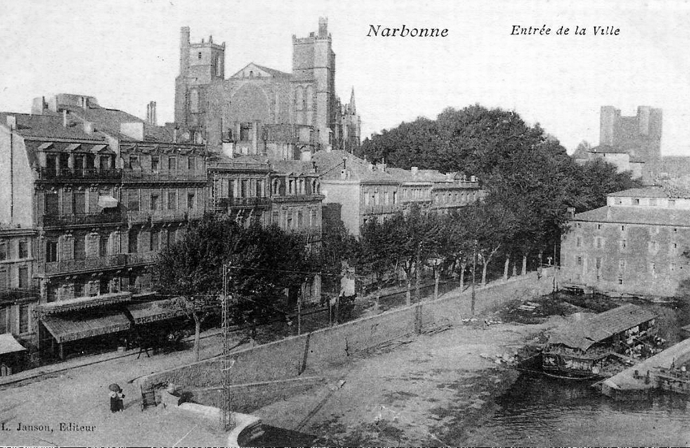 File:Narbonne Aude postcard entree ville.jpg - Wikimedia Commons