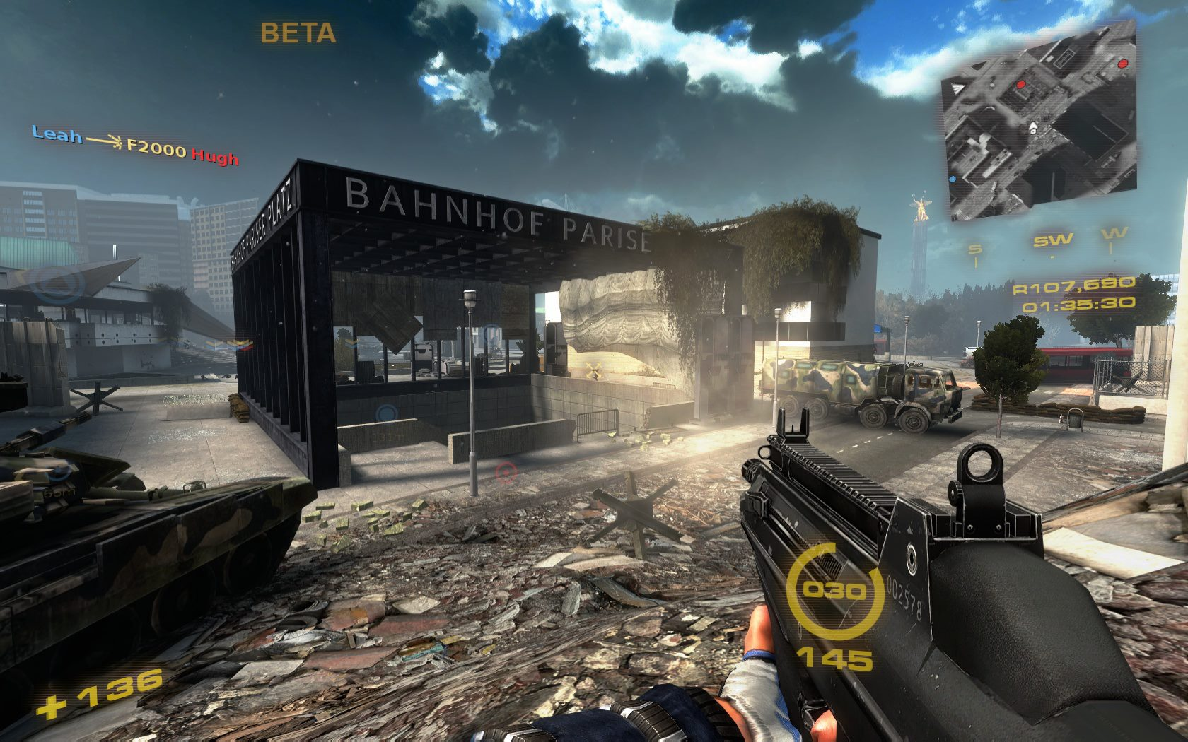 An example of a shooter game