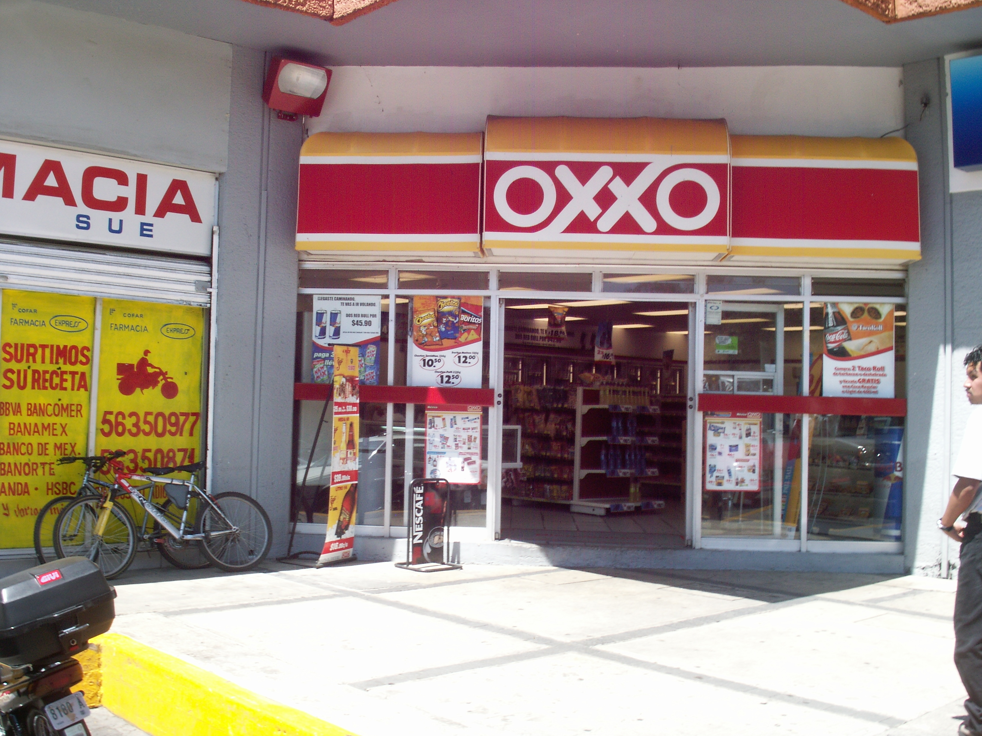 file oxxo store jpg wikipedia. Black Bedroom Furniture Sets. Home Design Ideas