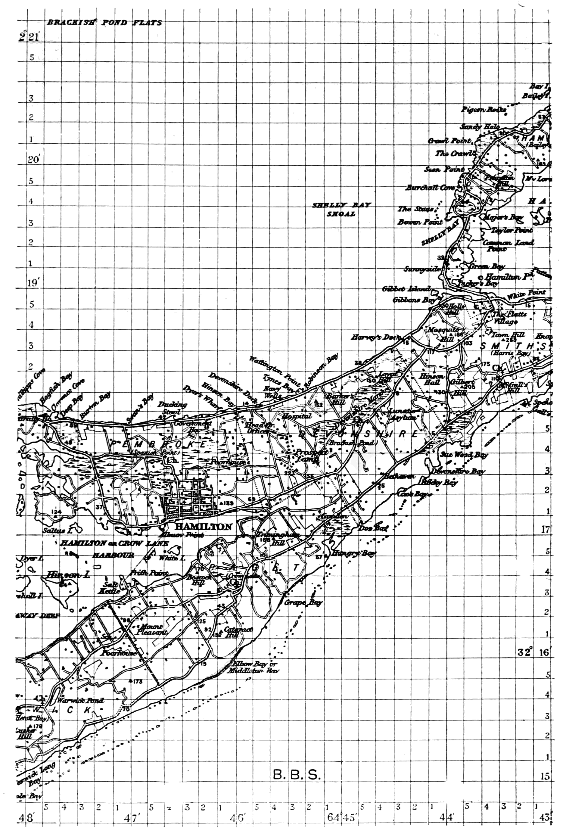PSM V66 D403 Map of central third of the bermuda islands.png