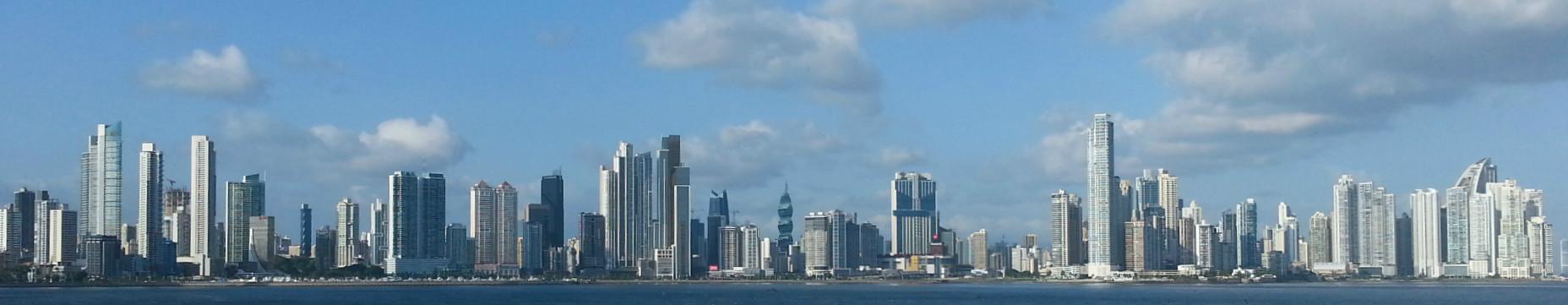 Skyline Panama City, Panama.