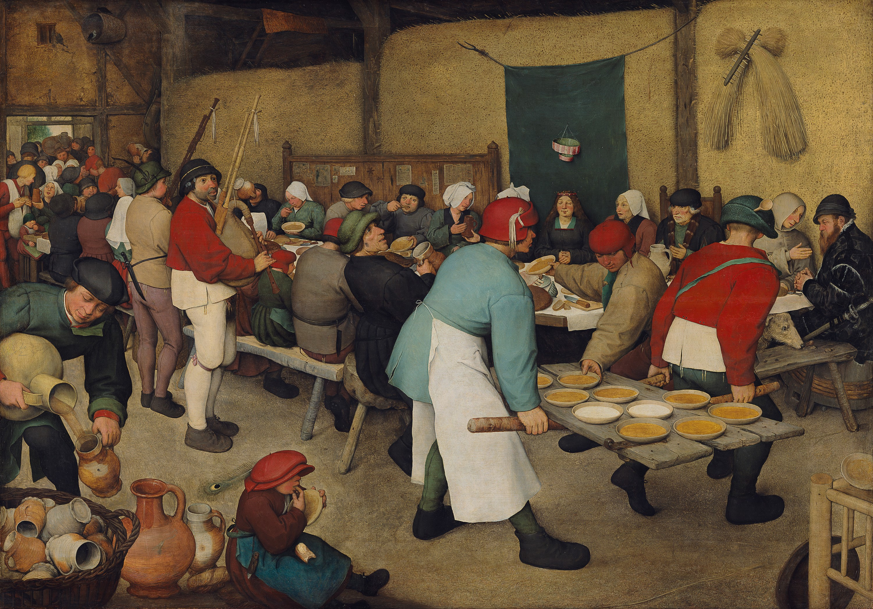 The Peasant Wedding is a 1567 painting by the Flemish Renaissance painter and printmaker Pieter Bruegel the Elder, one of his many depicting peasant life.