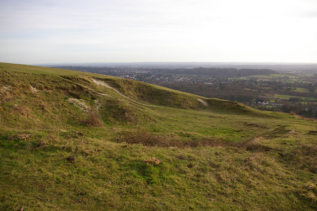 Pit on Colley Hill - geograph.org.uk - 673879