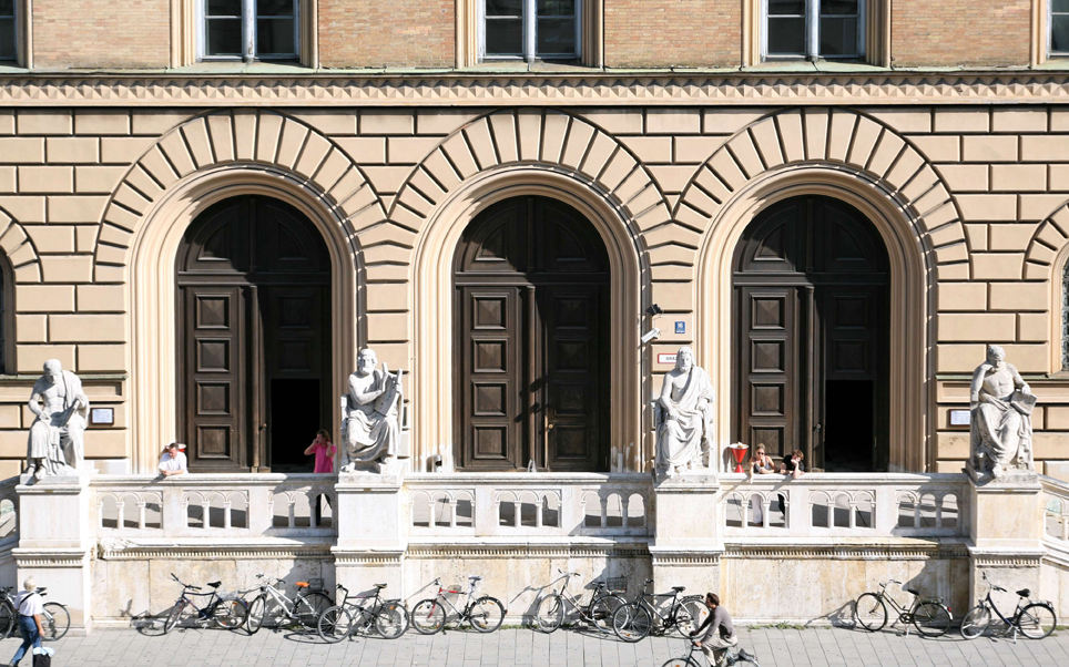 Facade of the Bavarian State Library in Munich