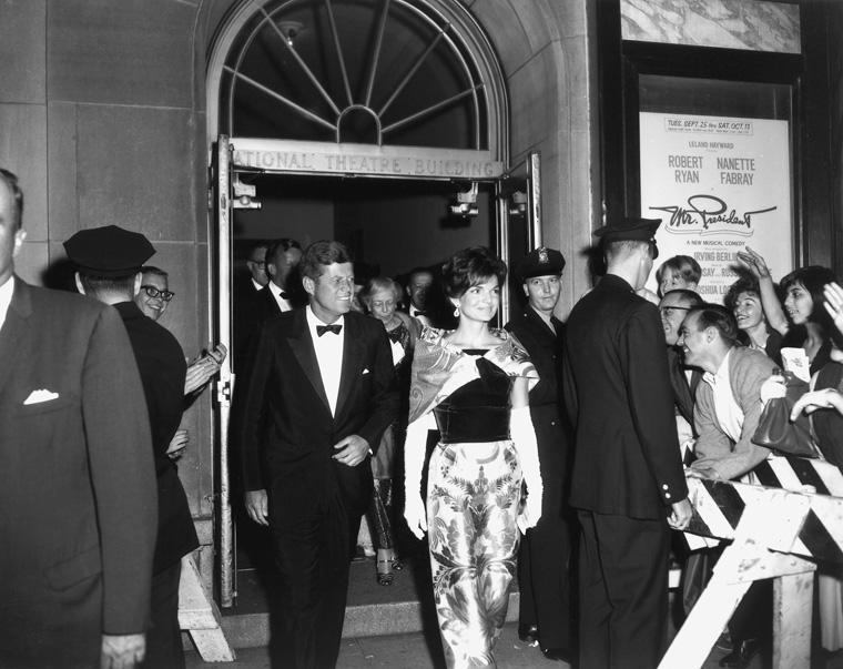 President and Mrs. Kennedy at National Theatre 21622b97d56b6