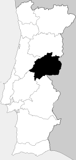 Location of Beira Baixa in Portugal in 1936.