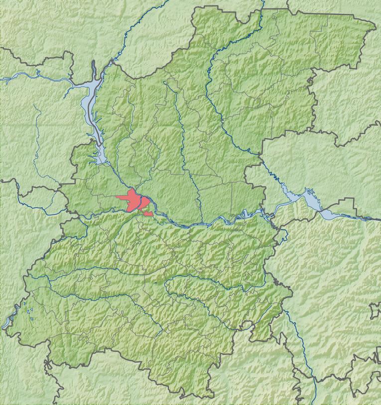 Relief Map of Nizhny Novgorod Oblast