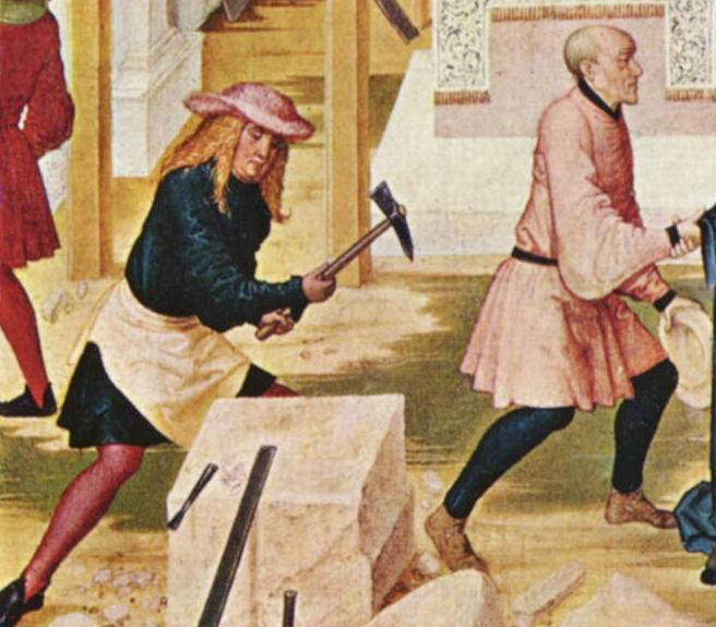 1505 image from Wikipedia of Stone Masons linked to the page
