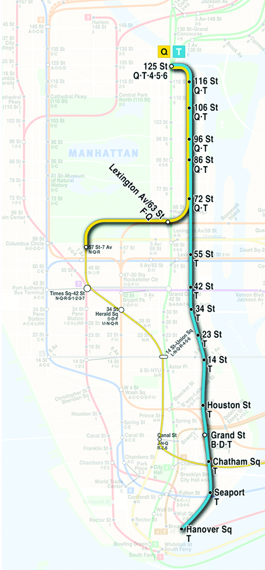 New York Subway Map Future.History Of The Second Avenue Subway Wikipedia