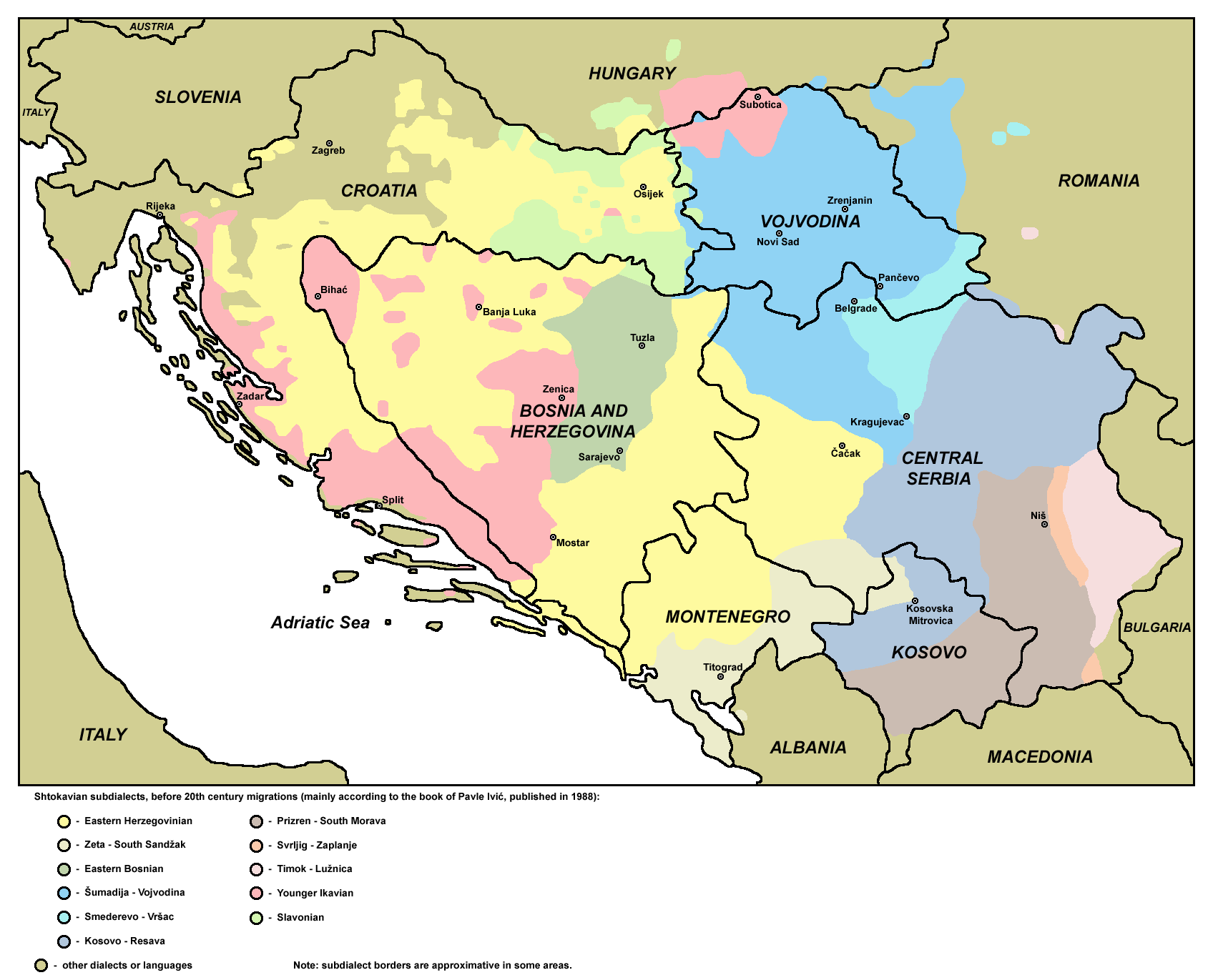 Dialects Of Serbo Croatian Wikipedia