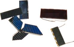verschiedene Solarzellen Quelle: Wikipedia (c) public domain