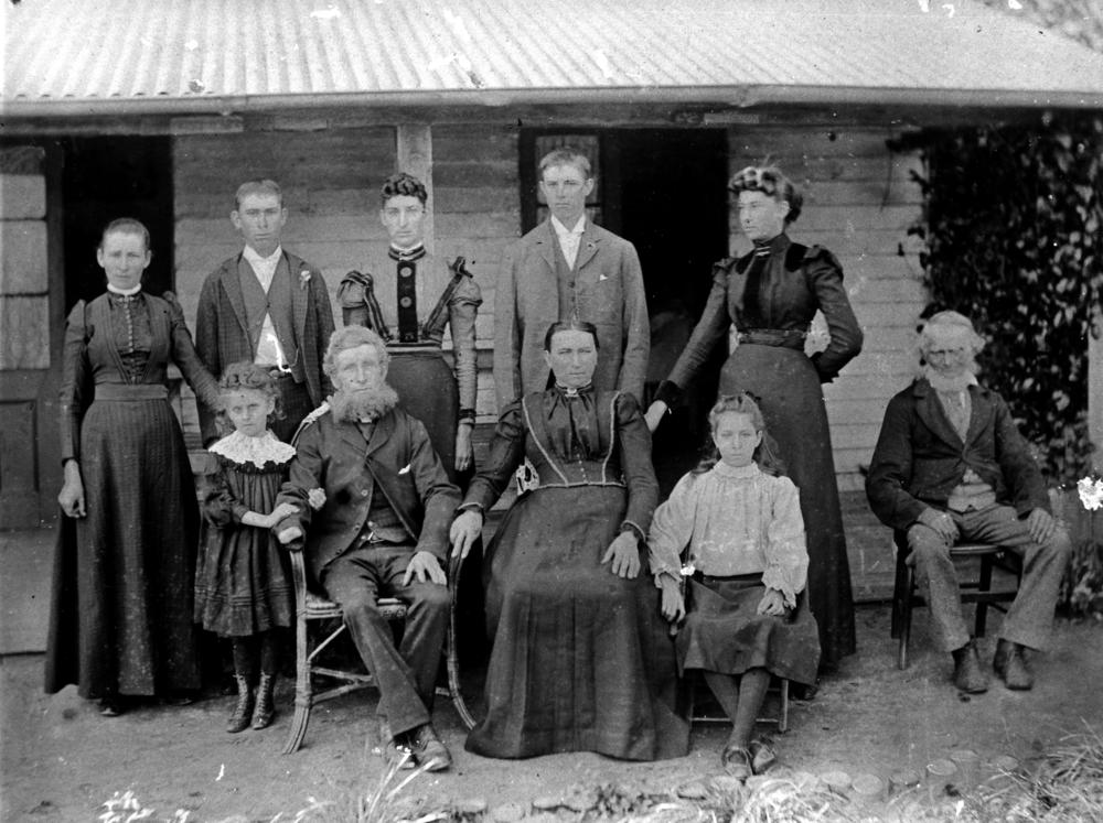File statelibqld 1 51440 family portrait taken in front of for What is family home