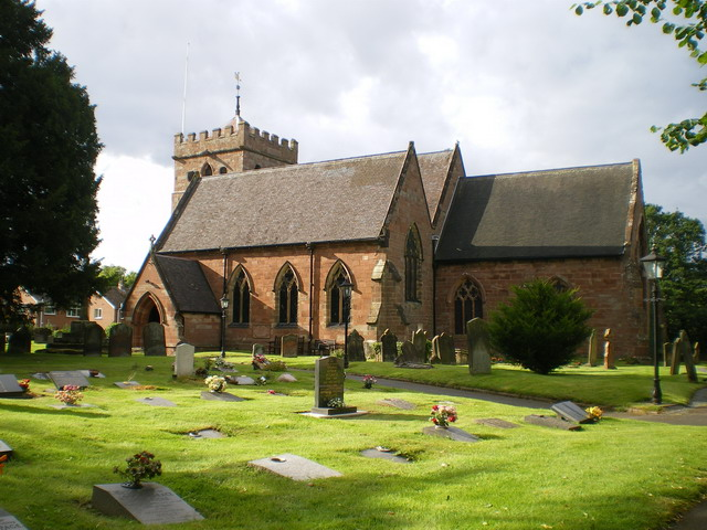 Parish church of St Mary Magdalene, Albrighton, east Shropshire, seen from the south