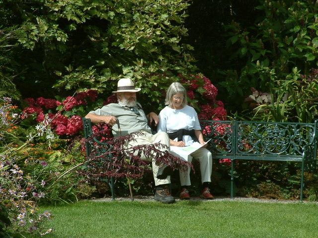 Trelissick Garden, A Welcome Rest. - geograph.org.uk - 211403